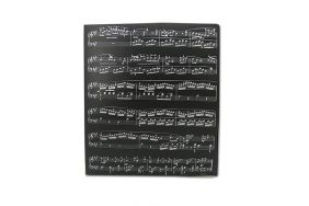Music Themed Music Score Sheets Design  PVC Ring Binder - PVC 3 O-Ring Size 25mm A3