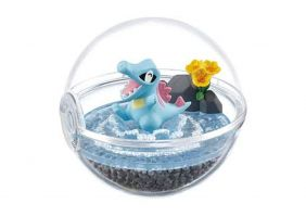 Pokemon Pokeball Terrarium Figure Collection Part 4~2.158 Waninoko Totodile Karnimani Kaiminus