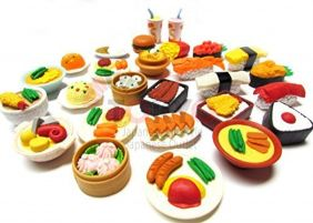 10 of Assorted IWAKO Japanese Puzzle Eraser - Restaurant Food Collection (10 will be randomly selected from images) by Iwako