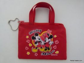 Disney Mickey & Minnie Red Mini Zipper Purse Pouch