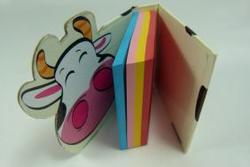 Colourful Small Hardback Notepad (Cow)