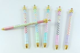 PartyErasers 12 pieces 0.5mm Lead Mechanical Pencil with Crown on top