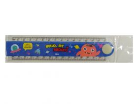 Cute Cartoon Transparent Foldable 30cm Ruler with Drawing Shapes -  Hello My Buddy!