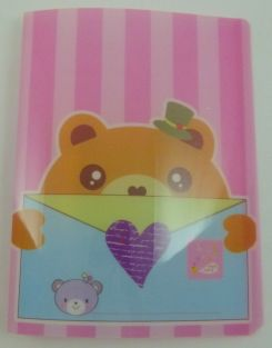 Cute Envelope Animal 20 pockets Lightweight A4 Display Book File Folder (Pink)