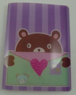 Cute Envelope Animal 20 pockets Lightweight A4 Display Book File Folder (Purple)
