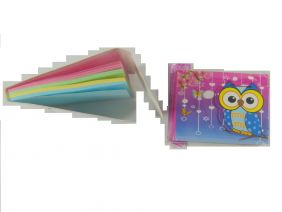 Cute Owl Colourful Notepad with Velcro Flap (Big Eye Blue Owl)
