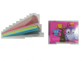 Cute Owl Colourful Notepad with Velcro Flap (Purple Owl)