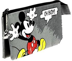 Mickey Mouse - 3 Pocket Storage Bag / Pencil Case
