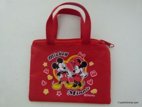 PartyErasers Disney Mickey & Minnie Red Mini Zipper Purse Pouch