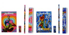Party Bag Pack of 2 Disney Zootopia 4 pieces Stationery Set (2 sets)