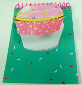 Double Notepad with Cupcake Cut out
