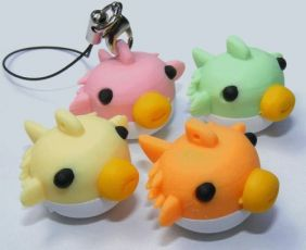 Dream by Themes: 6 Colour Procupine Fish Japanese Erasers