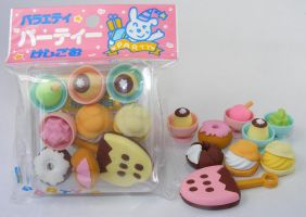 Dream 9 pieces dessert set Japanese Erasers
