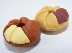 Dream A pair of Donut  Shape A Japanese Erasers