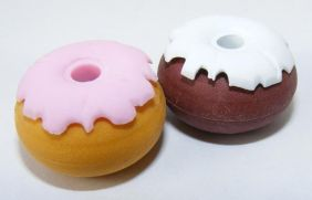 Dream A pair of Donut  Shape D Japanese Erasers