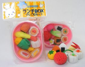 Dream Japanese Pink bento box set Japanese Erasers