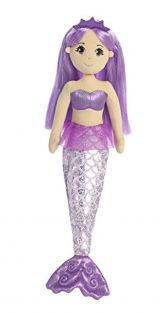Aurora World Sea Sparkles Amethyst Mermaid Plush