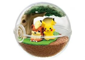 Re-Ment Pokemon Terrarium Collection 7 - Pikachu and Growlith