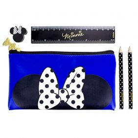 Paladone Products Ltd Disney Minnie Mouse Pencil Case With Stationery Set