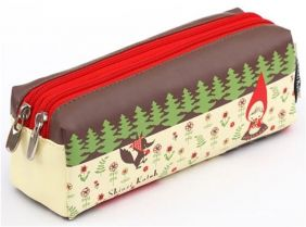colorful Little Red Riding Hood pencil case from Japan by Shinzi Katoh