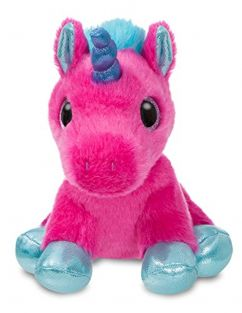 Aurora World 60861 Sparkle Tales Starlight Unicorn Soft Toy, Hot Pink, 7-Inch