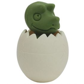 Iwako Pencil Tops: Dinosaur Egg (green)
