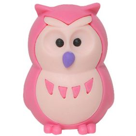 Iwako Animals: Owls (pink)