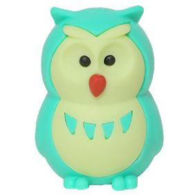Iwako Animals: Owls (green)