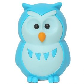 Iwako Animals: Owls (blue)