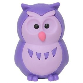 Iwako Animals: Owls (purple)