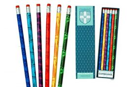 Cambridge University Contemporary Silhouettes Pencil Set and Eraser