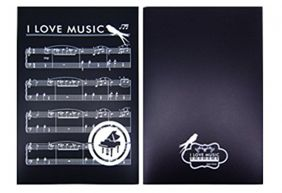 PartyErasers Music Themed I love Music 6 Pages Music File Folder Presentation Binder