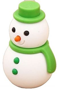 Iwako Green Scarf Winter Snowman Japanese Eraser from Japan