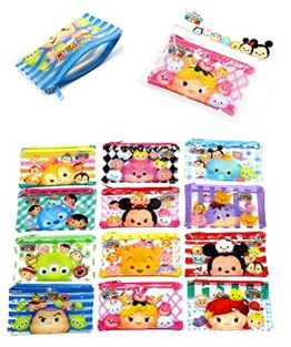 1piece Small Tsum Tsum Themed Zipper Clear Bag Size: 8.5cm x 14cm (Randomly Choosen From Image!)