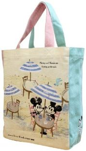 Shinzi Katoh Lesson Bag: Mickey and Minnie Design