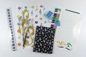 Music Themed Folder and stationery Music starter Set