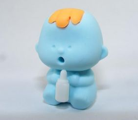 Zensinsyoji Dream Toys: Blue Feeding Baby Eraser