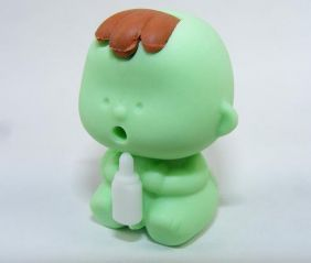 Zensinsyoji Dream Toys: Green Feeding Baby Eraser