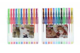 PartyErasers Pack of 24 Colours Normal Colour and Neon Colour Gel Pens
