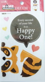 PartyErasers Light Switch Wall Stickers - Raccoon