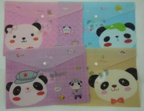 Happy Bear Press Stud Document Envelope Wallet (Pack of 4 pieces Assorted designs)