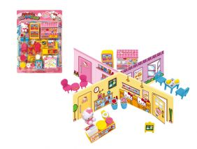 Hello Kitty Miniature Happy Cake Shop Roll Play Set from Japan