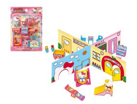 Hello Kitty Miniature Happy Kindergarten Roll Play Set from Japan