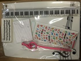 Music Themed Stationery - Clipboard Stationery Set (white)