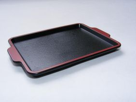 Iwako Small Black Lacquer Plastic Tray for Iwako Erasers