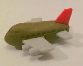 Iwako Toys: Copper RED Tail Aeroplane Eraser