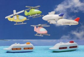 Iwako by Themes: 7pcs Sea and Air Japanese Erasers