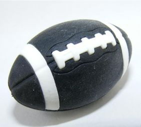 Iwako Sports: American Football Black Rugby Japanese Eraser