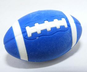 Iwako Sports: American Football Blue Rugby Japanese Eraser