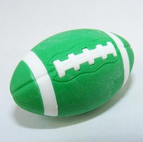 Iwako Sports: American Football Green Rugby Japanese Eraser